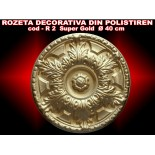 Rozeta decorativa din polistiren R-02 SUPER GOLD