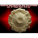 Rozeta decorativa din polistiren R-07 SUPER GOLD