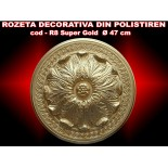 Rozeta decorativa din polistiren R-08 SUPER GOLD
