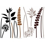 Stickere decorative cod-74111 Grasses Brown-Black